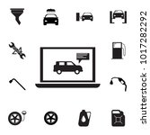 laptop with a car icon. set of... | Shutterstock .eps vector #1017282292