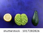 avocado and lemon and... | Shutterstock . vector #1017282826