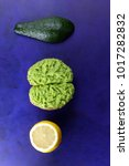 avocado and lemon and... | Shutterstock . vector #1017282832