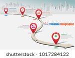 business road map timeline... | Shutterstock .eps vector #1017284122