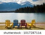 Multi Colored Adirondack Lawn...