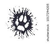 predator paw print among the...   Shutterstock .eps vector #1017294205