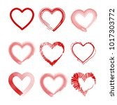hand drawn vector valentine... | Shutterstock .eps vector #1017303772