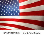 closeup of stars and stripes... | Shutterstock . vector #1017305122