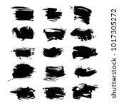 abstract textured black hand... | Shutterstock .eps vector #1017305272