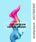 modern colorful flow poster.... | Shutterstock .eps vector #1017305305