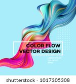 modern colorful flow poster.... | Shutterstock .eps vector #1017305308