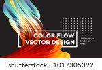modern colorful flow poster.... | Shutterstock .eps vector #1017305392