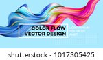 modern colorful flow poster.... | Shutterstock .eps vector #1017305425