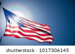 american flag waving in the... | Shutterstock . vector #1017306145