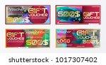 gift voucher gold template... | Shutterstock .eps vector #1017307402