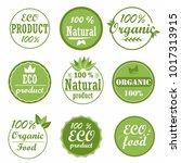 set of healthy organic food... | Shutterstock .eps vector #1017313915