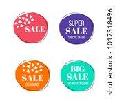 vector set of sale banners.... | Shutterstock .eps vector #1017318496