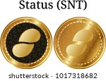 set of physical golden coin...   Shutterstock .eps vector #1017318682