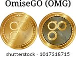 set of physical golden coin...   Shutterstock .eps vector #1017318715