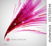 abstract pink and red lines...   Shutterstock .eps vector #1017320146