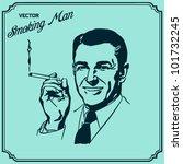 man smoking | Shutterstock .eps vector #101732245