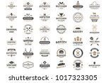 vintage retro vector logo for... | Shutterstock .eps vector #1017323305