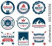 vintage retro vector logo for... | Shutterstock .eps vector #1017323356