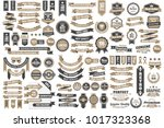 vintage retro vector logo for... | Shutterstock .eps vector #1017323368