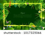 exotic tropical leaf background ... | Shutterstock .eps vector #1017325066