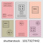 collection of sale banners ... | Shutterstock .eps vector #1017327442