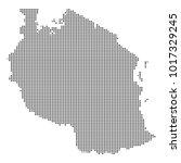 pixel mosaic map of tanzania on ...