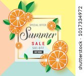 vector illustration of summer... | Shutterstock .eps vector #1017334972