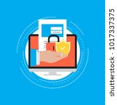 secure account login flat... | Shutterstock .eps vector #1017337375