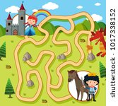 maze game template with... | Shutterstock .eps vector #1017338152