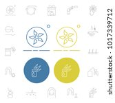 cosmetics icons set with... | Shutterstock . vector #1017339712