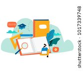 online training courses ... | Shutterstock .eps vector #1017339748