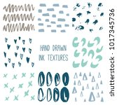 set of 8 hand drawn textures ... | Shutterstock .eps vector #1017345736