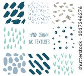 set of 8 hand drawn textures ... | Shutterstock .eps vector #1017346276
