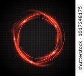 glow light swirl trail. slow... | Shutterstock .eps vector #1017348175