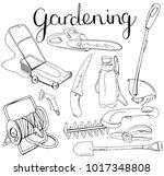 black and white monochrome set... | Shutterstock .eps vector #1017348808