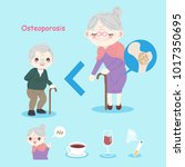 old people with osteoporosis... | Shutterstock .eps vector #1017350695