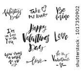 set of valentines day romantic... | Shutterstock .eps vector #1017350902