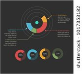 business circle infographics... | Shutterstock .eps vector #1017353182