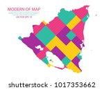 map of nicaragua   modern... | Shutterstock .eps vector #1017353662
