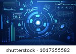 abstract technology ui... | Shutterstock .eps vector #1017355582