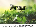 be awesome today  inspirational ... | Shutterstock . vector #1017357565