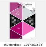 annual business report cover... | Shutterstock .eps vector #1017361675