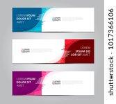 vector abstract design banner... | Shutterstock .eps vector #1017366106