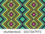 geometric folklore ornament.... | Shutterstock .eps vector #1017367972