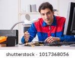 professional repairman...   Shutterstock . vector #1017368056