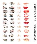 face constructor with eyes ... | Shutterstock .eps vector #1017368356