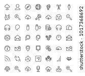 network flat icon set. single... | Shutterstock .eps vector #1017368692