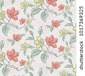 floral seamless pattern... | Shutterstock .eps vector #1017369325