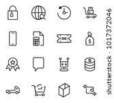 e commerce flat icon set .... | Shutterstock .eps vector #1017372046